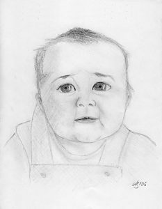Drawing of baby Morgan