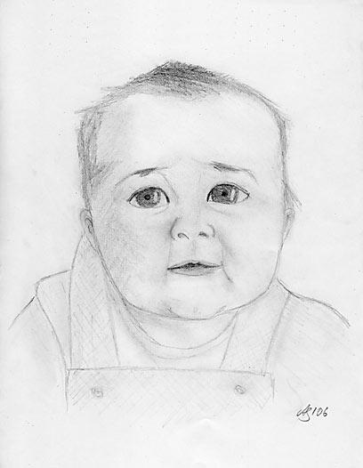 Drawing of baby Morgan