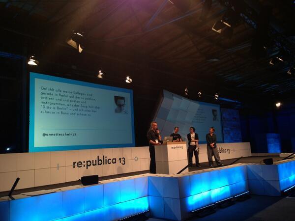 Mein Tweet auf stage1 der re:publica 2013