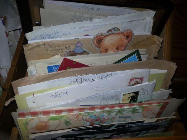 Briefe im Briefschrank