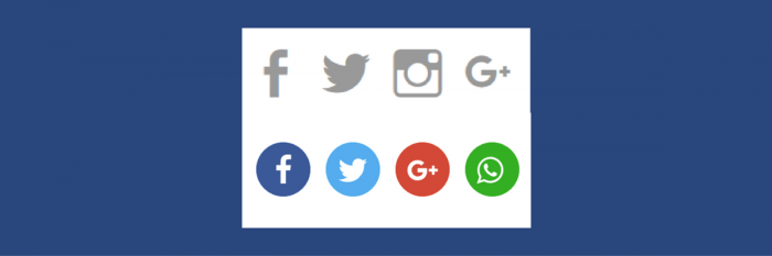 Social Icons und Sharebuttons