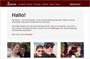 Screenshot von zweisames.de