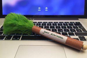 Der Kiwischl auf einer Laptop-Tastatur