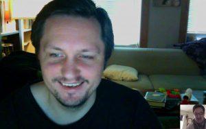 Skypesession mit Morten N. Pedersen