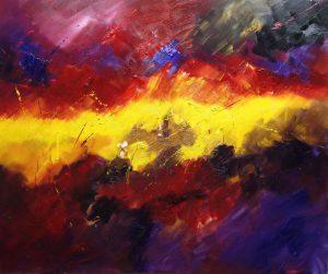 Ölgemälde Philosophischer Horizont von Wilfried Georg Barber