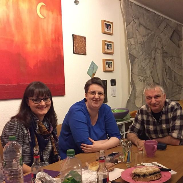 Rebecca Ohm, Annette Schwindt und Peter Müller
