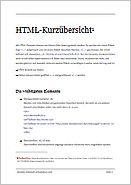 HTML Kurzinfo