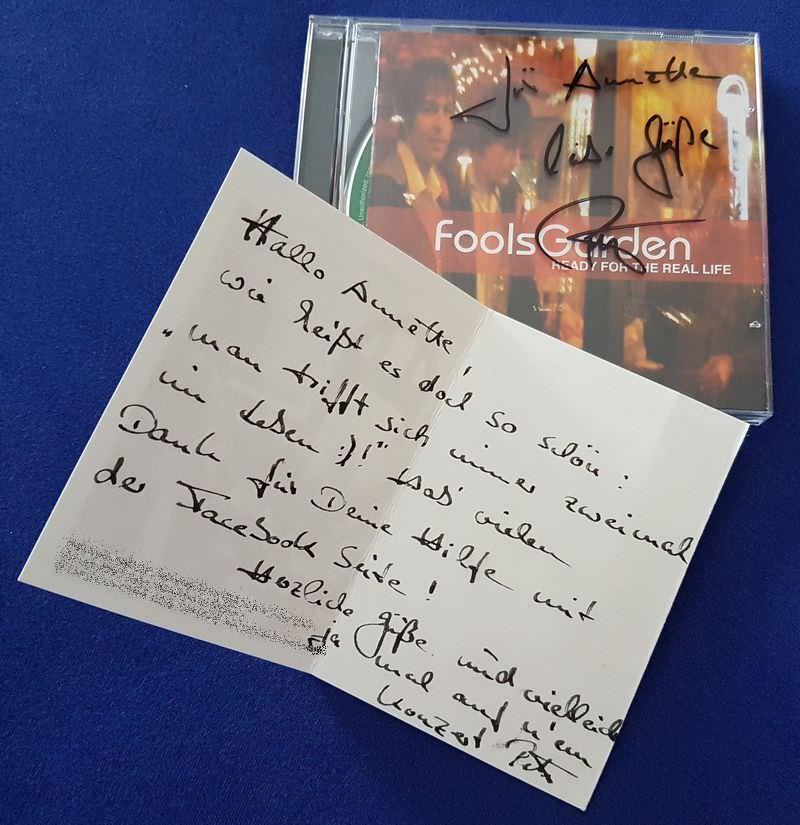 Karte und signierte signierte CD und Karte von von Peter Freudenthaler