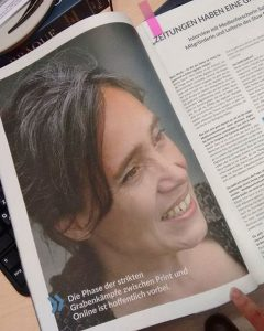 Sabrias Foto im BDZV-Magazin 2017