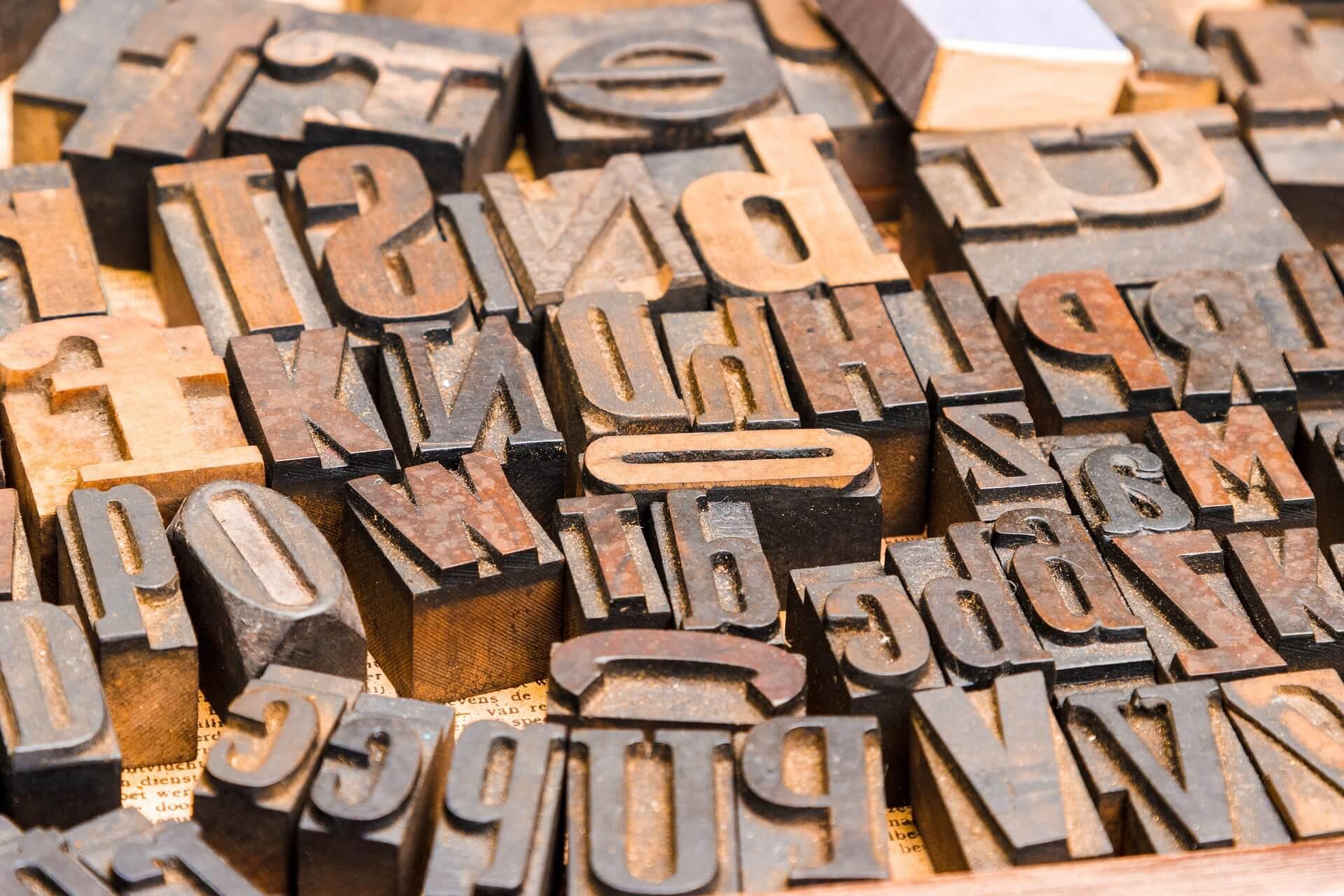 Lettern für den Buchdruck