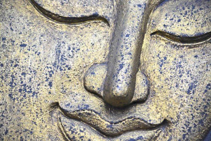 Lächelndes Buddhagesicht