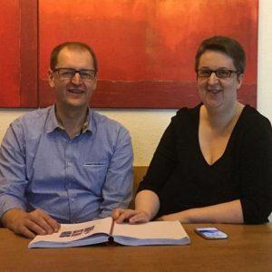Raumausstatter Roland Müller und Annette Schwindt