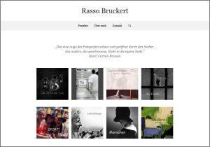Screenshort der Website von Rasso Bruckert