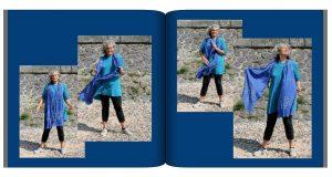 Ausschnitt aus Christines Fotobuch mit den Schalfotos