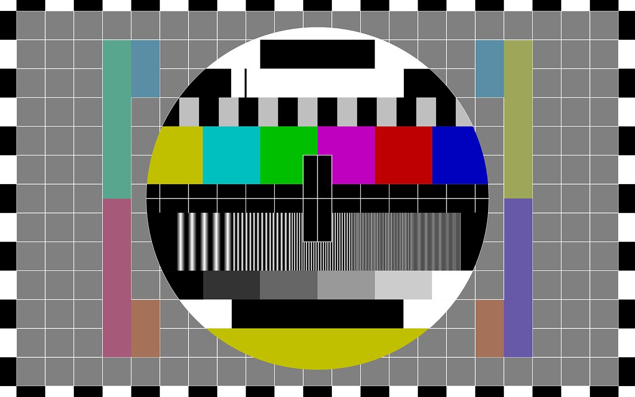 Früheres Testbild im Fernsehen