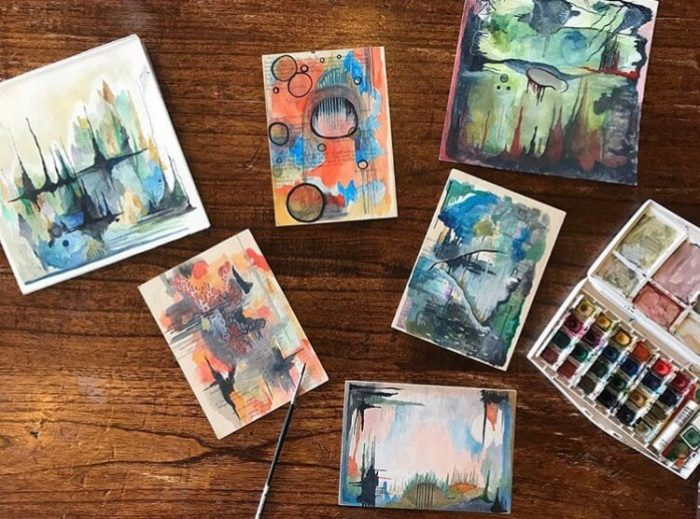 atist cards and watercolor set