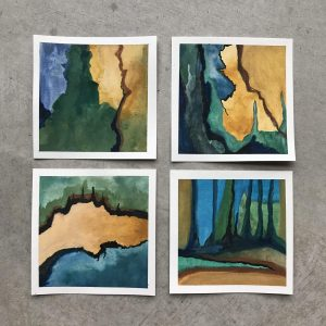Abstract nature paintings