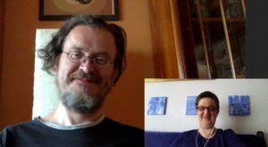 Kai und Annette beim Skypen.