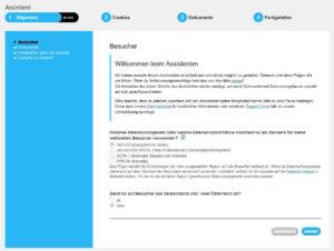 Screenshot des Assistenten