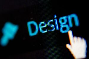 Menüpunkt Design mit Cursorhand