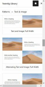 verschiedene Vorlagen für Text mit Bild/ern